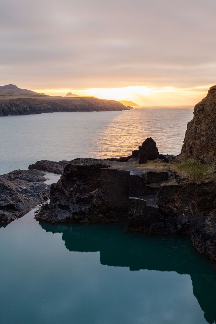 Looking out to Sea, Across the Blue Lagoon | The Blue Lagoon, Abereiddy, Pembrokeshire, Wales, UK.