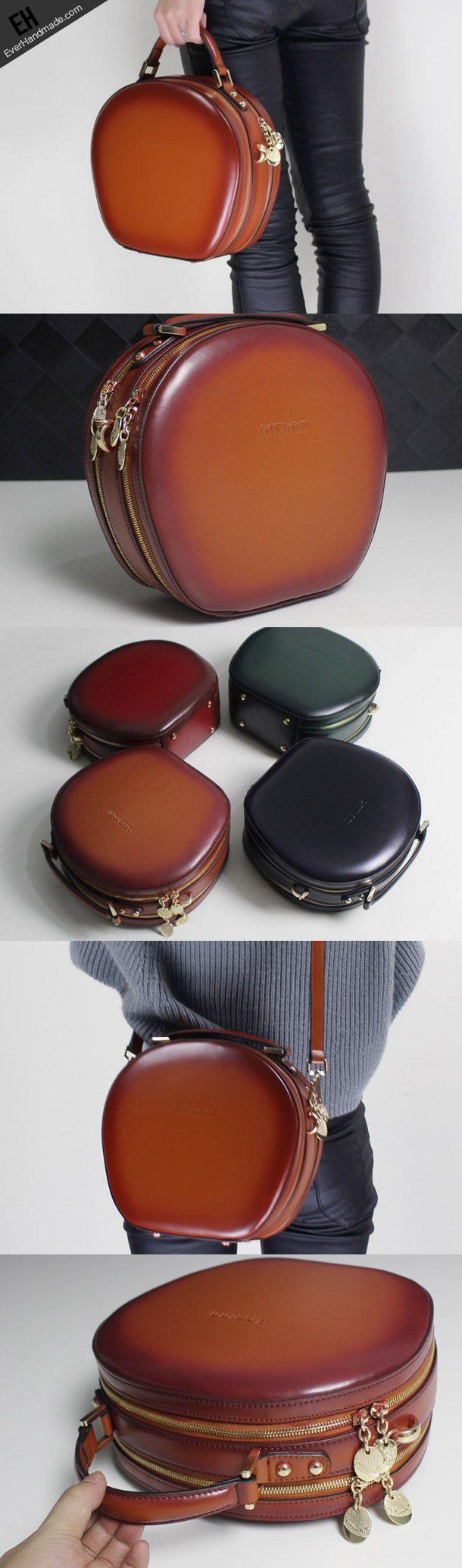 Handmade Leather handbag shoulder bag brown black for women leather crossbody bag