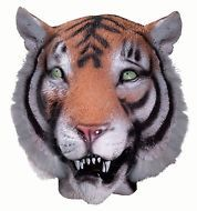 Adult Halloween Costume Party Full Mask Latex Deluxe Animal Head Tiger