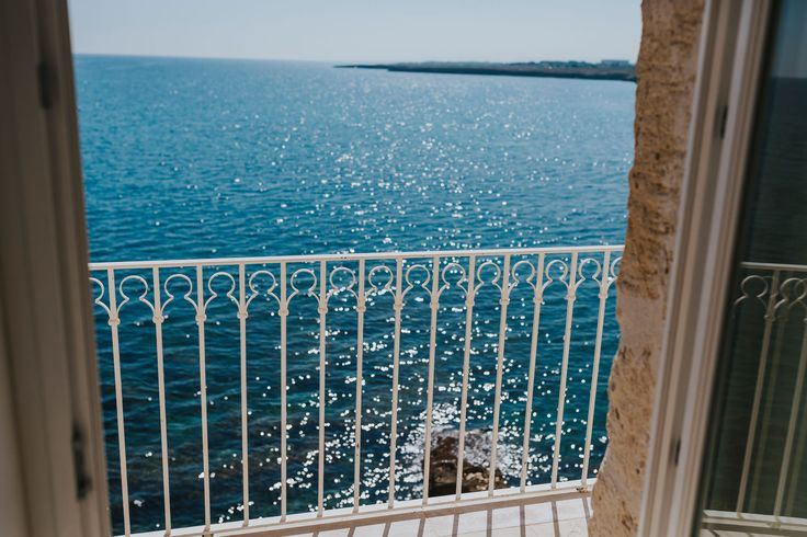The view from the bridal suite at Don Ferrante, Monopoli, Italy. Photo by Benjamin Stuart Photography #weddingphotography #donferrante #monopoli #italianweddingvenue #oceanview #destinationwedding