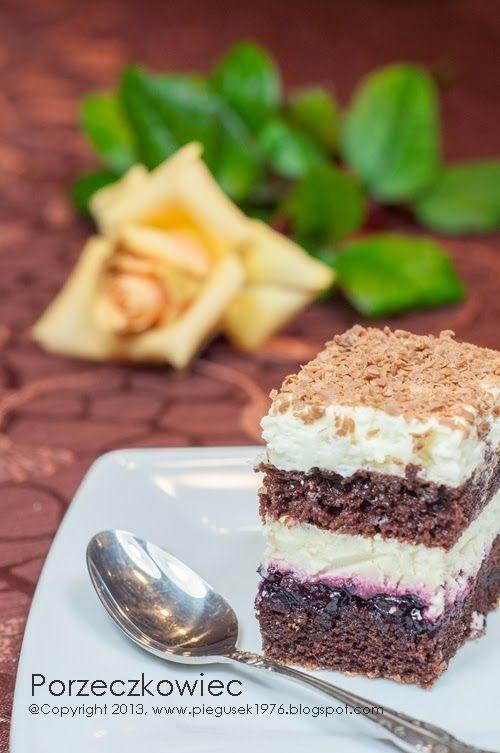 Porzeczkowiec ciasto biszkoptowe z czarną porzeczką #ciasto #cake #sweet