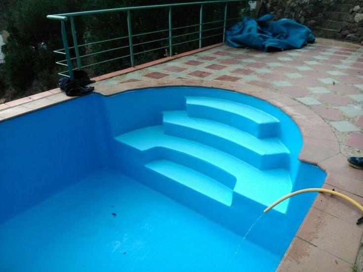 #liner color azul cielo, bonito #revestimiento en #piscina