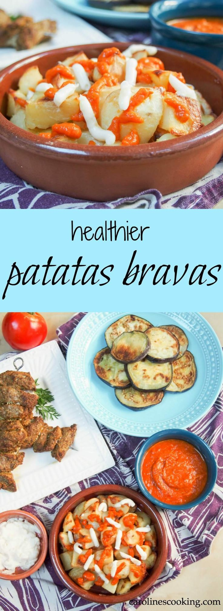 86 best spanish and portuguese food recipes images on pinterest these healthier patatas bravas are roasted rather than fried and with an easy spicy sauce they make the classic spanish potato tapas easy to enjoy forumfinder Images