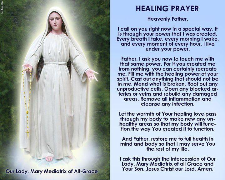 Prayer Healing to Mama Mary