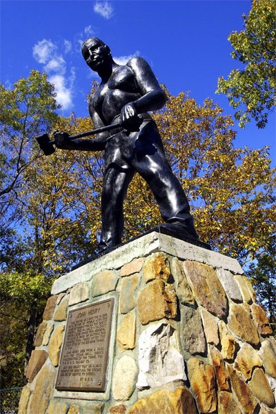 Statue of John Henry in Talcott, WV.  I remember seeing this on a field trip in elementary school.