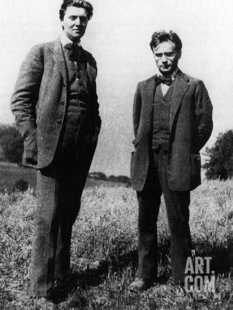"Composers Alban Berg and Anton Webern, 1923.  Together with Arnold Schoenberg, they were central figures in the ""Second Viennese School."""
