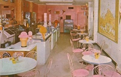 Vintage ice cream parlor