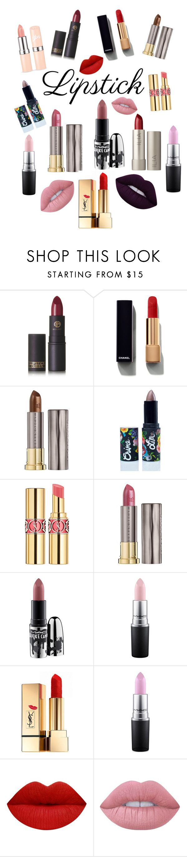 """Lipstick"" by redbone1961114 on Polyvore featuring beauty, Lipstick Queen, Chanel, Urban Decay, Lime Crime, Yves Saint Laurent, MAC Cosmetics, Ilia and summerlipstick"