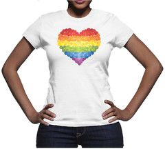 Peace T-Shirt - I Heart Diversity. This super comfortable and form-fitting Pride Tee is guaranteed Made in USA of 100% cotton.