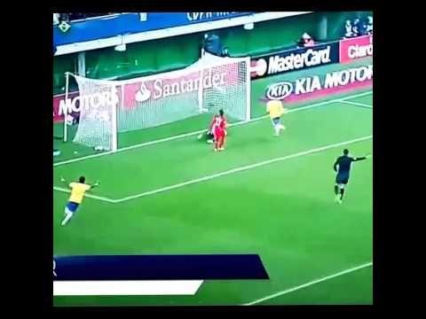 Neymar goal against Peru on Copa America 2015
