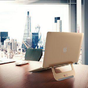 Amazon | Satechi アルミ二ウム ポータブル 調整可能 ラップトップスタンド 折り畳み式 軽量 (ノートパソコン、タブレット用) (ゴールド) | Satechi | モニタアーム&スタンド通販