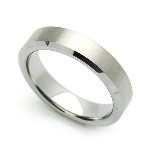 5MM Comfort Fit Tungsten Carbide Wedding Band Brushed ...