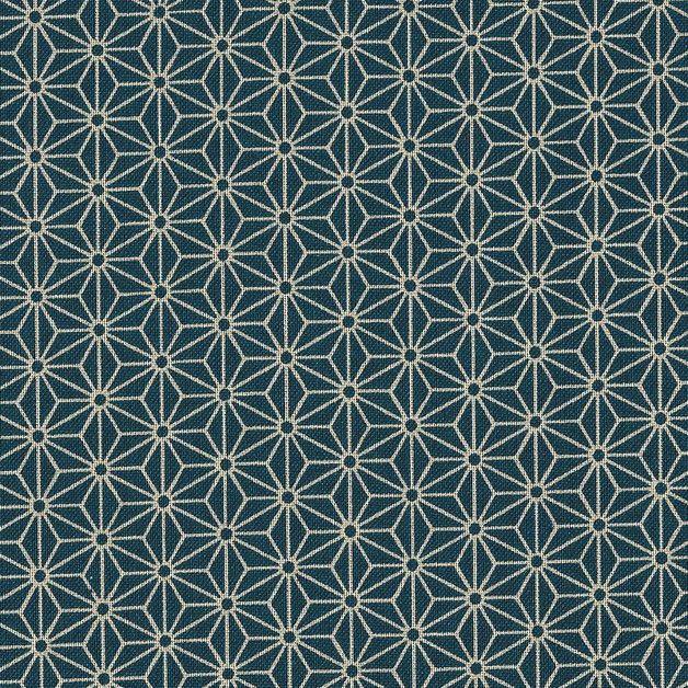 Stoff japanische Motive - Japanstoff Asanoha petrol-blau, klein - ein Designerstück von Himbeerfell bei DaWanda