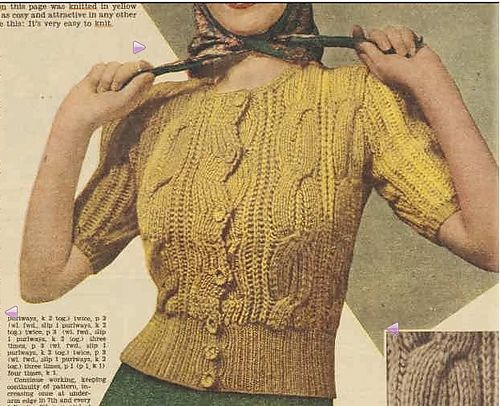 Free Easy Knitted Scarf Patterns : 10+ images about Vintage knitting patterns - womens cardigans. on Pinter...