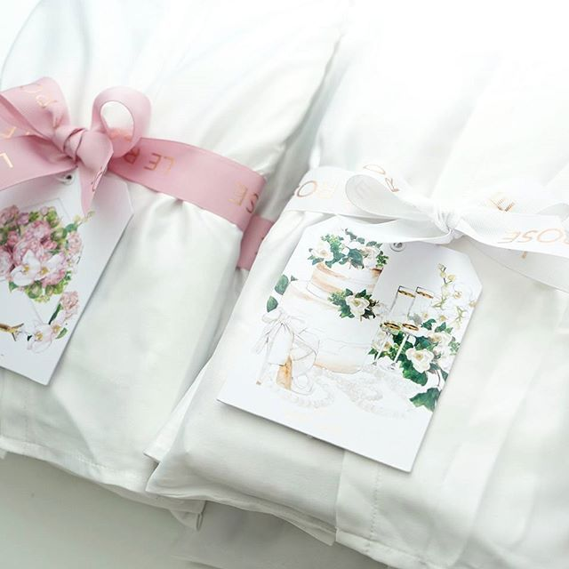 We love packing orders for our beautiful Brides and bridal parties💕all robes are gift wrapped with a pretty bow to match the colour of your robe and all packages come with a beautiful gift card designed by @_thelustlist_💗LR xx