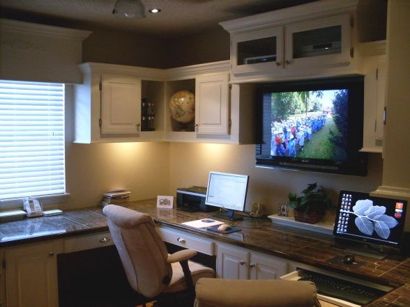 his and her office designs | His and Her's man cave office, Since our two son's have grown up and ...