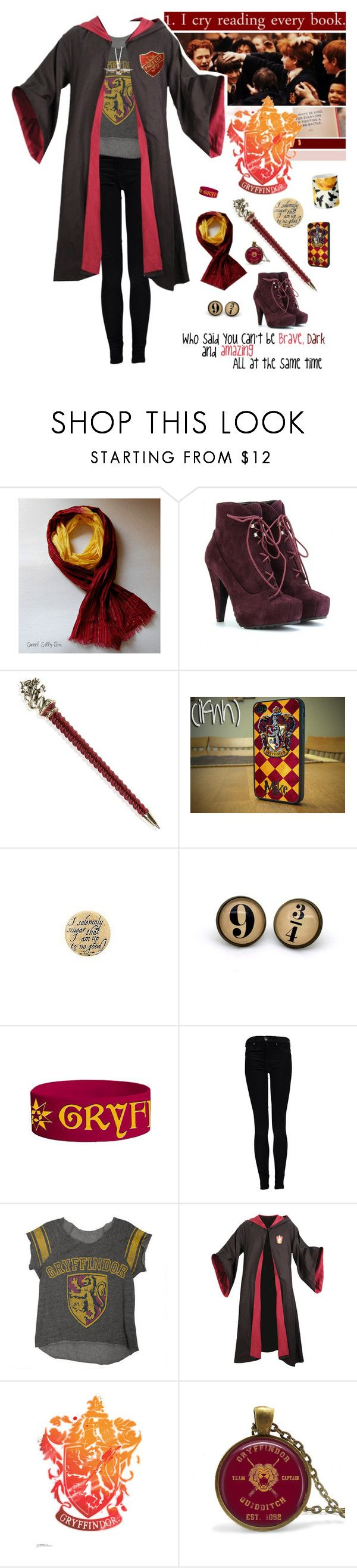 """""""but you'll always be my Heroine // even though you've lost your mind"""" by lifeinpictures ❤ liked on Polyvore featuring Proenza Schouler, Hot Topic, Dr. Denim, harrypotter, Gryffindor and halloweencostume"""
