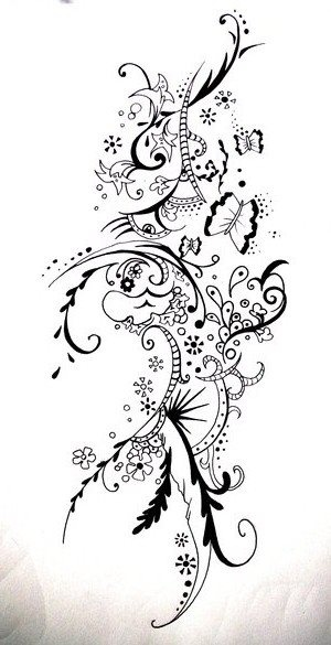 Zentangle Flower Tattoo 166 best images about ...