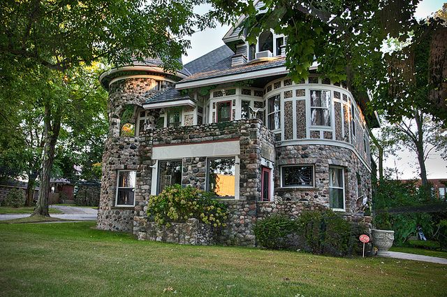 Stone Victorian home in South Haven, Michigan just what ive always wanted a modern victorian castle