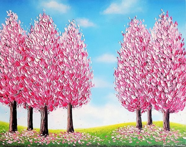 Jessica T Hamilton Website Flower Painting Cherry Tree Cherry Blossom Tree