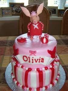 Olivia the pig cake!  Adorable!