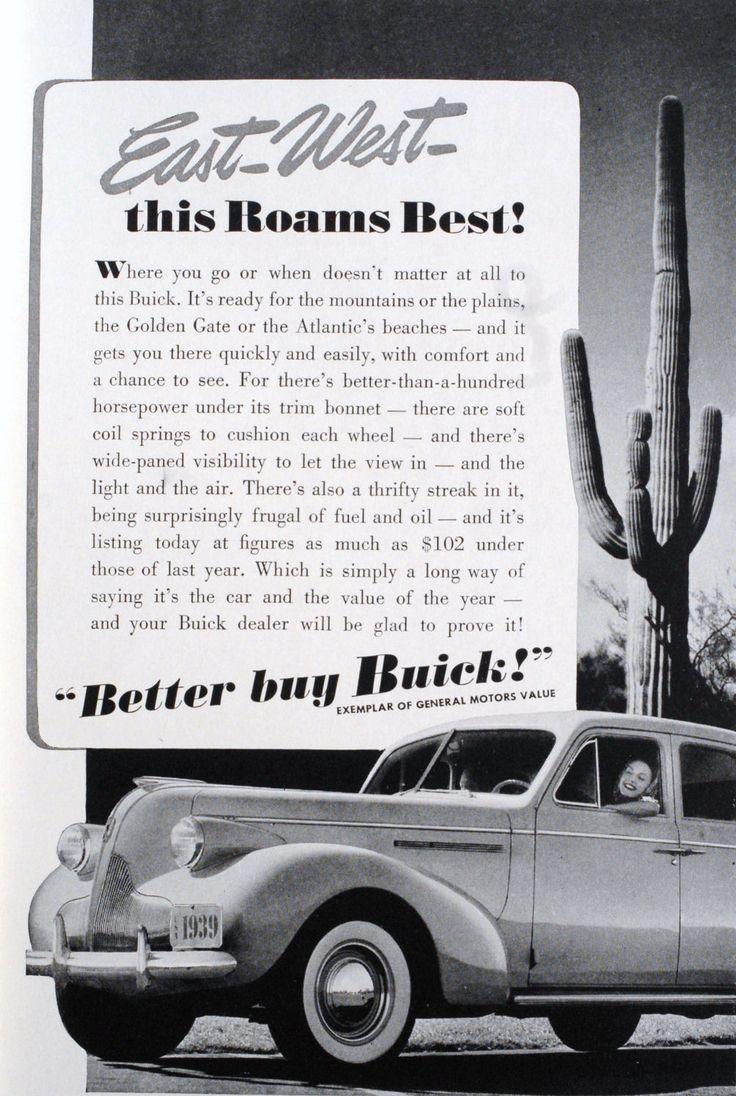 Buick ad 1939