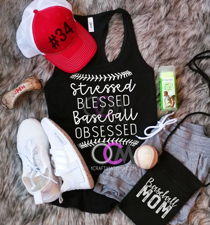Stressed Blessed Baseball Obsessed Tank Top, Blessed Baseball Mom Tank, Blessed Baseball Shirt, Baseball Mom Tank- Racerback 19.99