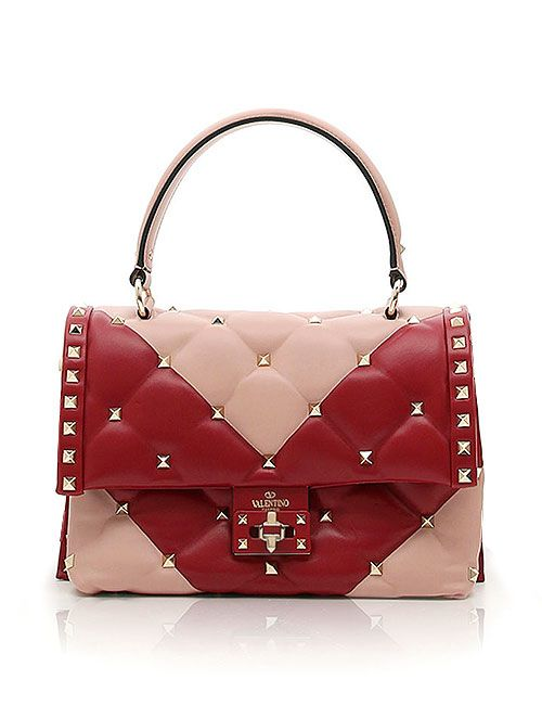61fec5472b6f Valentino candy-stud top handle shoulder bags #SS18 #rockstud #quilted