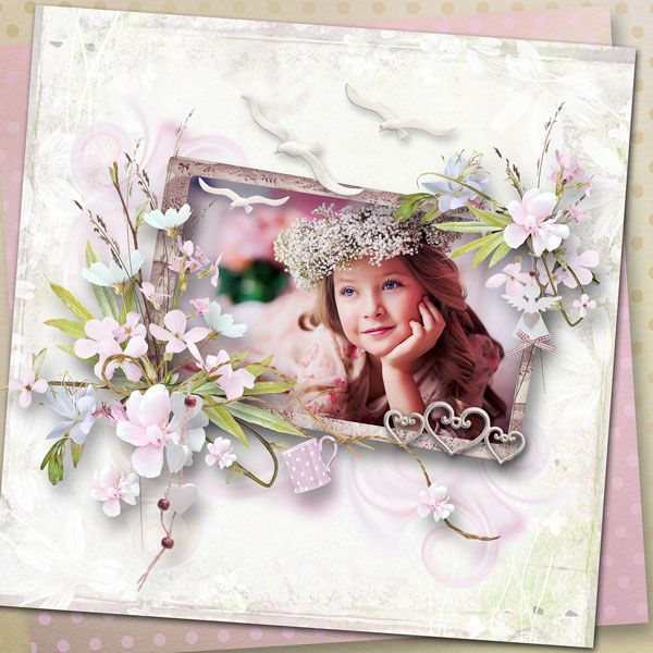 """Morning Romance"" by Pats Scrap and MiSi Scrap  Add this product to your cart and spend just €8.00 to get it as a free gift. http://www.digiscrapbooking.ch/shop/index.php?main_page=product_info&cPath=22_26&products_id=20477 photo Lena Evdokimova,Kids photographer use with permission"