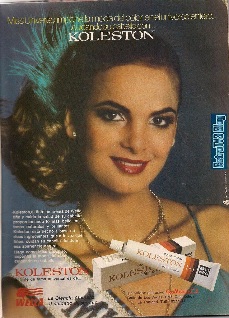 reciclandoenelatico.com Publicidad retro en Venezuela : Maritza Sayalero tinte de cabello Kolleston años 80s