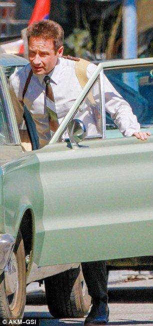 Newly single David Duchovny becomes LAPD on the set of NBC's Aquarius