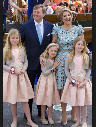 Netherlands Royal Family - King Willem-Alexander, Queen Maxima and Princesses Alexia, Amalia and Ariane