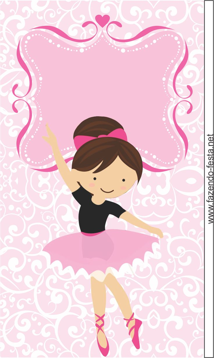 Sweet Ballerina free printable card or candy bar label.