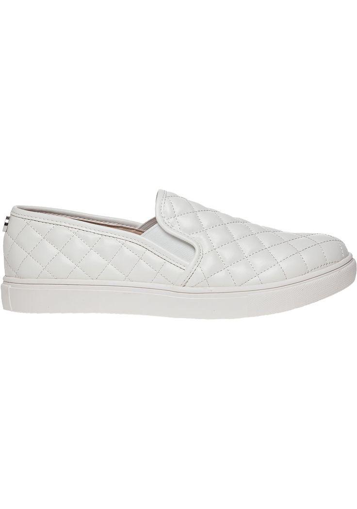 Image result for steve madden quilted slip on sneakers white