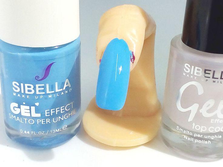 Smalto Gel Azzurro Fluo + Top Coat Semipermanente No UV Moda Estate Offertissima