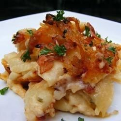 Macaroni and Cheese with Caramelized Onions and Bacon Allrecipes.com