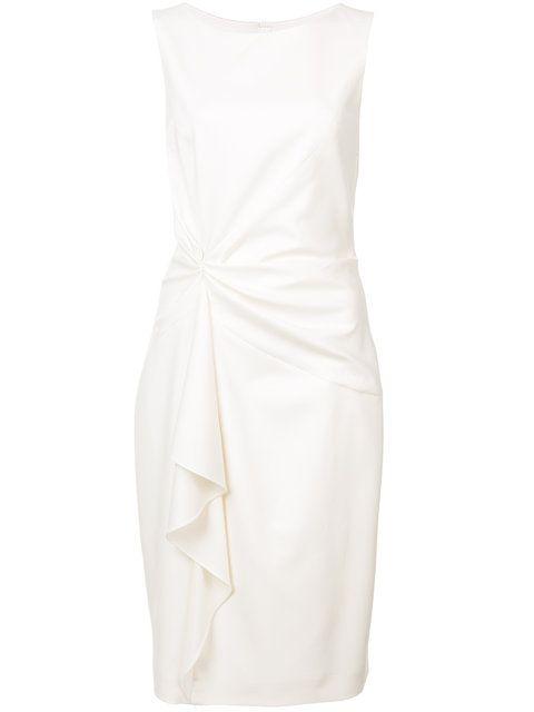 carolina herrera icon gather sheath dress white classic in 2018 Striped Evening Gowns carolina herrera icon gather sheath dress white