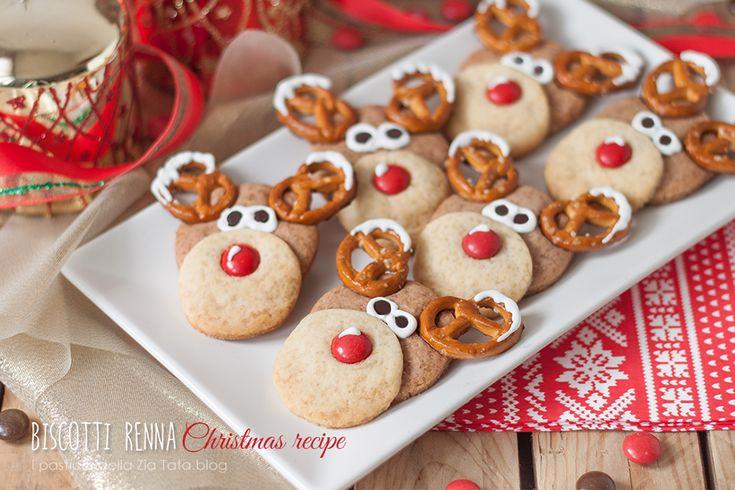 Biscotti natalizi a forma di renna