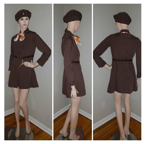 Check out this item in my Etsy shop https://www.etsy.com/ca/listing/556657659/sale-1960s-girl-scouts-brownies-uniform