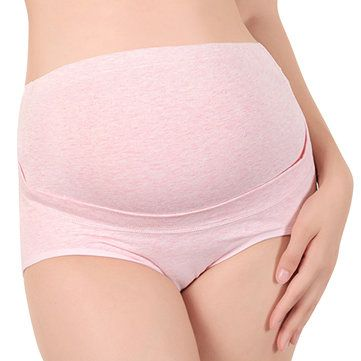 Woman Comfy Cotton Pregnant Panties High Waist Double Supporting Maternity Underwear at Banggood