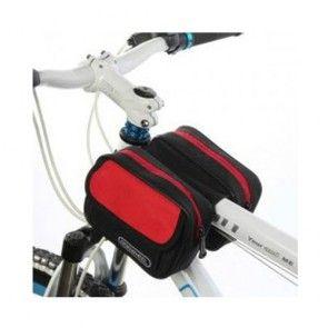 Roswheel Dobbelt Front Cykel Taske, 1.5L - Rød