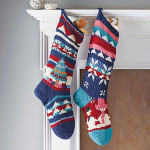 Hand Knitted Christmas Stocking - as seen on tv and in the press