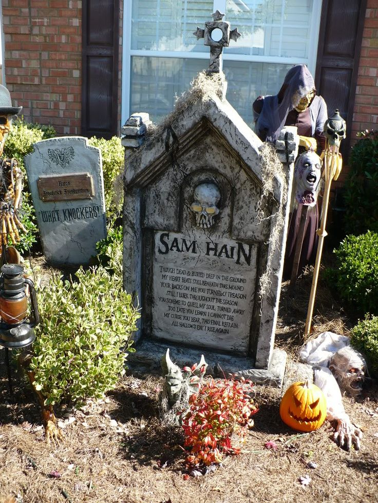 my graveyard hauntforum - Cemetery Halloween Decorations