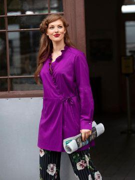 Викрійка Блуза відрізна із запахом і оборками  купити викрійки ... 2f2b59ef615eb