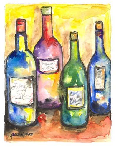 1000 images about paintings of wine bottles on pinterest for How to paint bottles with acrylic