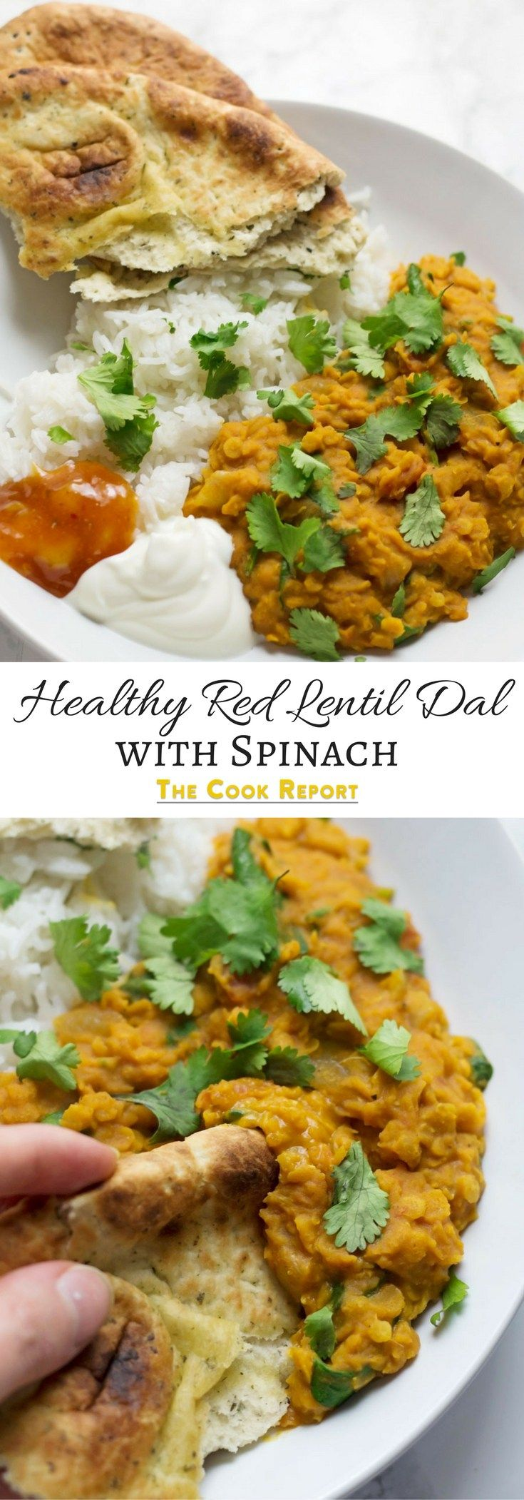 This red lentil dal is perfect when you're craving that curry flavour but you want something quick and healthy. Serve with yoghurt and mango chutney.