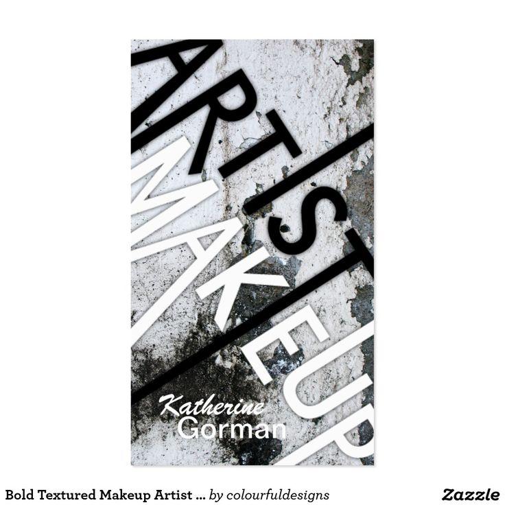 Bold Textured Makeup Artist Business Cards