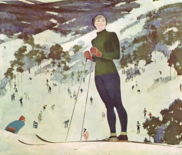 Петр Смукрович. «На лыжах».