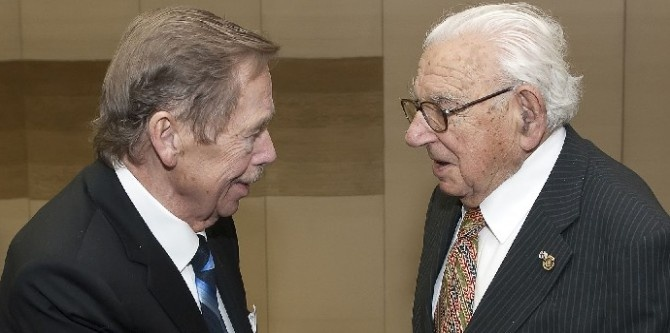 Václav Havel with sir Nicholas Winton
