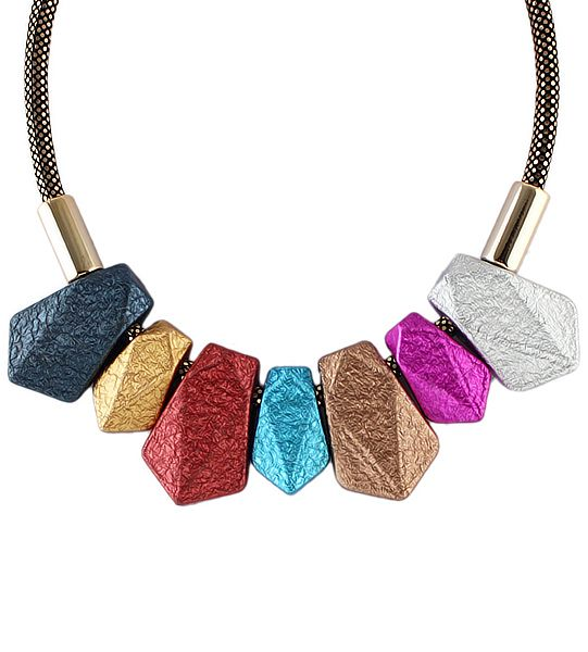 Shop Multicolor Gemstone Tassel Necklace online. SheIn offers Multicolor Gemstone Tassel Necklace & more to fit your fashionable needs.